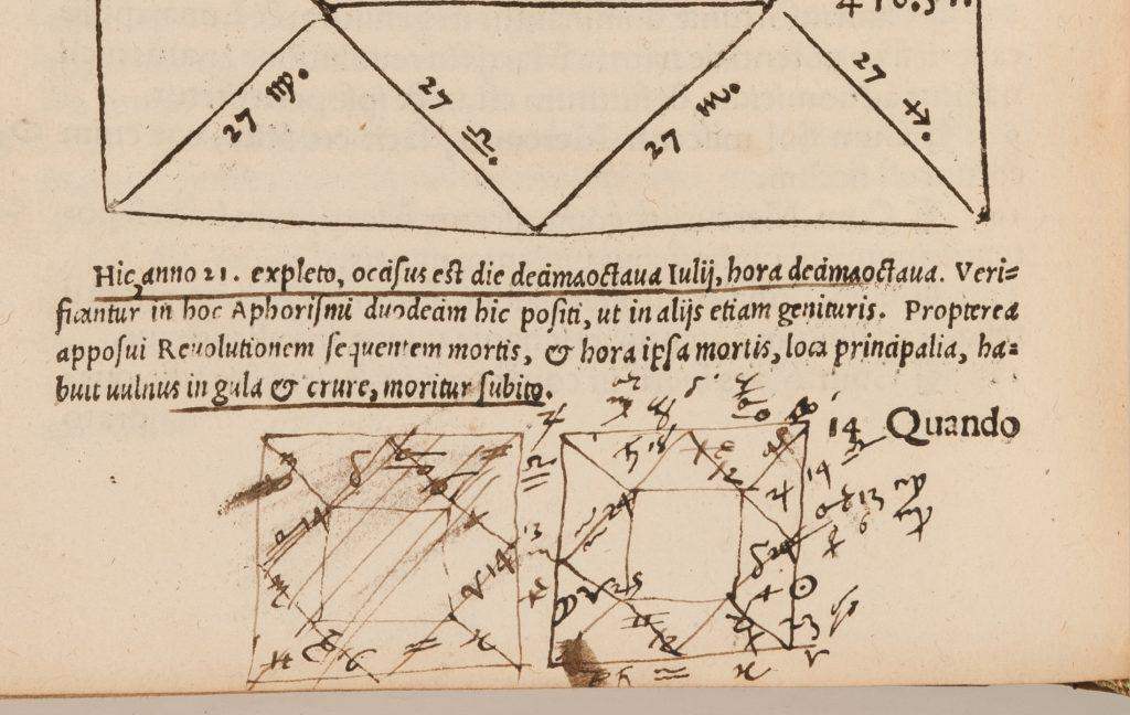 CN 7134 - Cardano%2c Libelli quinque%2c folio 228v%2c horoscope - photograph by Mike Fear%2c (c) RCP